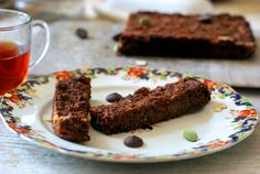 """Cocoa and Cardamom Banana """"Biscotti"""" recipe // Gluten-free and paleo, this hormone-healthy treat is made with tiger nut flour. The tiger nut is actually a starchy root vegetable, full of resistant starch and probiotics, and it also helps add a little sweetness."""