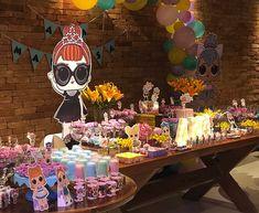 LOL Surprise Dessert Table ser up