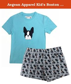 Aegean Apparel Kid's Boston Terrier Printed Tee & Shorts PJ Set, L. Perfect for your little one's bedtime & sleepovers, she'll love to get cozy in this super cute Boston Terrier Printed T-shirt and shorts PJ Set by Aegean Apparel! She's going to love sleeping in her adorable Boston Terrier T-Shirt and Shorts PJ set. Comfort and fashion all rolled into one. This product complies with the Children's Sleepwear Standard under the Flammable Fabrics Act and therefore, it is safe for your kids…