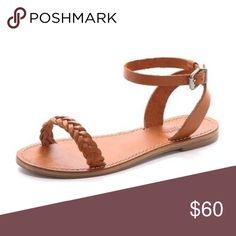 ❤️ Madewell Braided Sightseer Sandals Cute, comfortable, boho style braided sandals in soft, natural leather with an ankle strap detail. Minimal wear, shown in the pictures.  True to size.  ❌ Sorry, no trades. Madewell Shoes Sandals