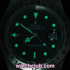 """Rolex Explorer II Full Set - """"Classic Sapphire Model"""" REF: 16570   Year Jan 2001  UK-supplied, in superb condition, and totally complete, this Rolex Explorer II is real classic. Originally designed for cave explorers to keep track of daylight hours whilst underground, the additional,  brilliant red hand is now used to indicate a second time zone for the globe-trotters out there. Crafted in solid stainless steel, water resistant to 100m."""