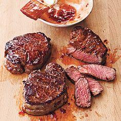 Your Secret Element: The Broiler | Broiled Tenderloin Steaks with Ginger-Hoisin Glaze | CookingLight.com