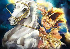 Atem sur son cheval blanc - Yu-Gi-Oh!