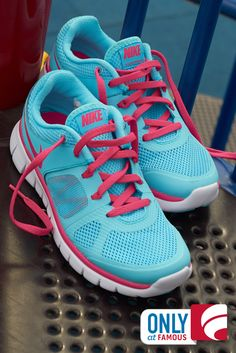 Playgrounds are for playful pops of color and these Nike running shoes do the trick!