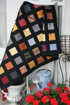 Quilt made with men's neckties --