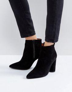 #ASOS - #Selected Selected Round Heel Suede Boot - Black - AdoreWe.com