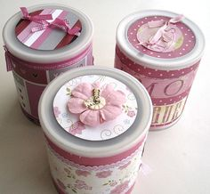 More Cute Decorated Cans