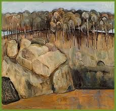 Fred Williams, 'The Nattai River', oil on composition board, x cm Contemporary Landscape, Abstract Landscape, Landscape Paintings, Landscapes, Abstract Art, Abstract Paintings, Australian Painting, Australian Artists, Fred Williams