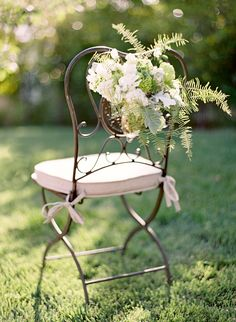 flowers for the chairs