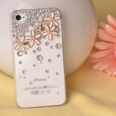 Bling bling I phone 4S case Spring item -Flower set #1  US$13