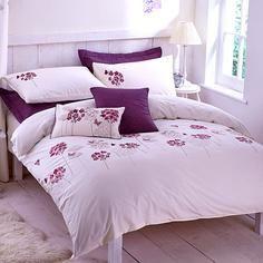 Plum Hydrangea Bed Linen Collection
