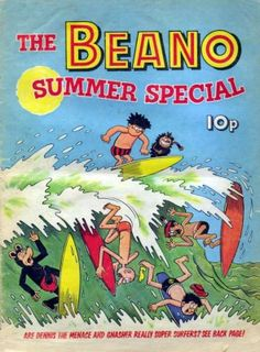 Comics UK is dedicated to those great institutions, the British Comic and Story Paper dating back from the the late Victorian era through Beano to and beyond. Children's Comics, Horror Comics, Funny Comics, 1970s Childhood, Childhood Days, Summer Books, Summer Special, Surf Art, Vintage Children's Books