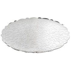 Alessi Home Dressed Round Serving Tray ($140) ❤ liked on Polyvore featuring home, kitchen & dining, serveware, silver, circular serving tray, alessi and round serving tray
