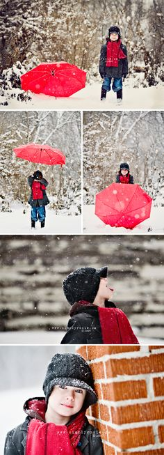 in Texas, to take a picture like this, you have about a 15 minute window when snow is actually falling.