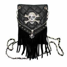 Net book Case Bag Messenger bag Style with Skulls Rose Tattoos Day of the Dead Gothic Halloween Pattern Shoulder bag Handbag Purse Cotton