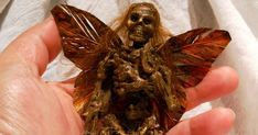 Do you remember seeing this ? Or any of the number of ' mummified fairies ' that followed? Well, I've had mummified fairy on the brain fo... Halloween Stuff, Halloween Crafts, Holiday Crafts, Dark Fairies, Creepy Cute, Do You Remember, Holidays And Events, Faeries, Art Inspo