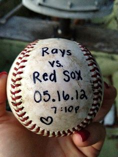 #BASEBALL GAME ...Surprise Baseball Date! (or whatever sport your honey likes). This is a super cute invite idea <3