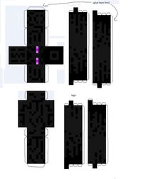 enderman paper template - Minecraft World Steve Minecraft, Minecraft Real Life, Minecraft Box, Papercraft Minecraft Skin, Minecraft Templates, Minecraft Pictures, Minecraft Designs, Minecraft Crafts, Minecraft Party