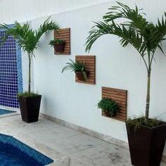 Small Patio Design, Vertical Garden Design, Backyard Garden Design, Backyard Landscaping, House Plants Decor, Plant Decor, Jardin Zen Interior, Garden Wall Designs, Front Garden Landscape