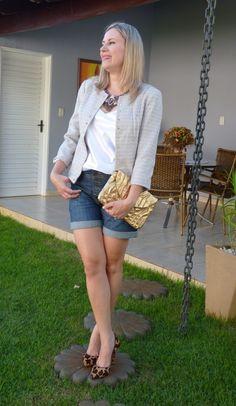 Jeans e casaqueto de tweed!!!