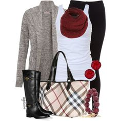 """""""Burberry Plaid in Winter"""" by angkclaxton on Polyvore"""