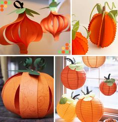 I am thinking about making a lighted paper pumpkin garland for my windows this year.