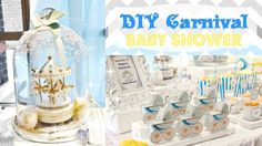 today, I am very excited as I am going to give you a tour for Ongie;s Carnival Baby Shower! Carnival Baby Showers, Diy Carnival, Carousel, Pregnancy, Tours, Children, Toddlers, Boys, Kids