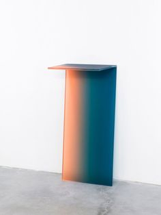 Latvian-born, Amsterdam-based designer Germans Ermics's project, entitled Shaping Colour, explores glass furniture with layers of gradient color
