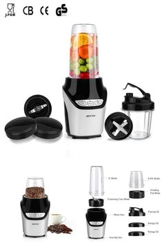 A cross blade that can blend even the toughest ingredients into silky smooth results, ideal for making smoothies, juices, shakes, sauces. Grinder, How To Make Smoothies, Flip, Maker, Juice, Canning, Drinks, Drinking, Beverages