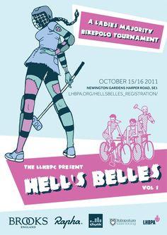 Hell's Belles - The Ladies Majority Bike Polo Tournament #love #bikepolo #cycling #yakima
