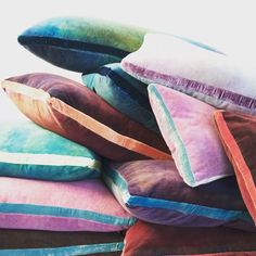 Velvet cushions via kevin obrien studio