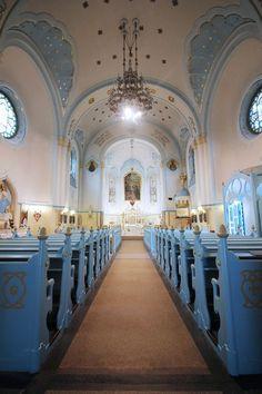 Inside the Blue Church in Bratislava