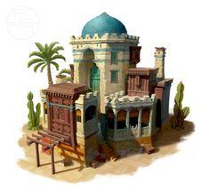 ArtStation - 失落的城邦, 五 月 Islamic Architecture, Concept Architecture, Sustainable Architecture, Architecture Design, Gothic Architecture, Classical Architecture, Landscape Architecture, Desert Location, Planet Coaster