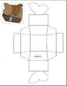 moldes cajas mariposas - Buscar con Google