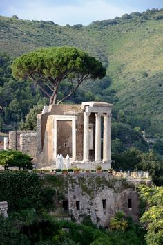 Nature takes over.the Temple of Vesta in Villa Gregoriana, Tivoli, Italy. Rome Travel, Italy Travel, Ancient Rome, Ancient History, Beautiful World, Beautiful Places, Pagoda Temple, Places To Travel, Places To Visit