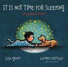 It is not time for sleeping : (a bedtime story) by Lisa Graff.  Bedtime is near, but from the end of dinner until lights are turned off, it is not really time for sleeping until a child receives a special good night wish.