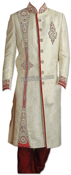 Today's man wears Pakistani sherwani during wedding occasions or festive seasons. Weddings are the special function where every man would love to look the best and be the center of attraction. Matching a modern Pakistani sherwani dress with the bride looks extremely classy and elegant. Visit Here http://www.786shop.com/dresses/modern-sherwani