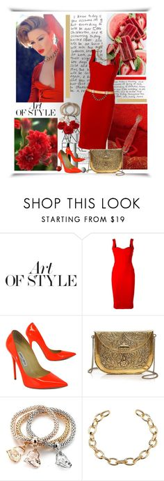 """""""Red is beautiful!"""" by barbara-gennari ❤ liked on Polyvore featuring Pierre Hardy, Victoria Beckham, Jimmy Choo, From St Xavier and Maison Mayle"""