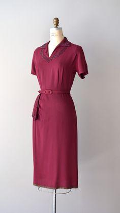 1940s dress / beaded 40s dress / Intermezzo by DearGolden on Etsy