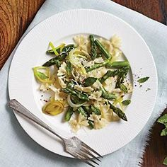 Asparagus Farfalle as a side to fish or chicken | MyRecipes.com