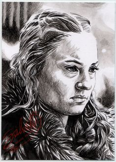 Original Aceo Sketch card GAME OF THRONES Sansa Stark SOPHIE TURNER