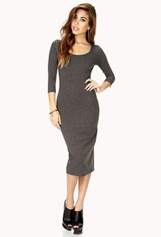 No Fuss Midi Dress | FOREVER21  Not a fan of below the knee dresses... But I love this one! :)