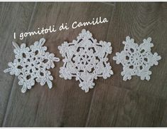 Crochet Winter, Knit Crochet, Christmas Diy, Xmas, Christmas Ornaments, Christmas Stuff, Crochet Snowflakes, Origami, Free Pattern