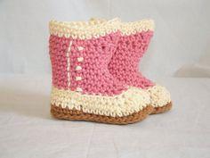 Victorian Baby Booties #crochet