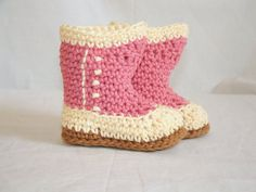 Victorian Baby Booties #crochet  I think I could adapt this pattern for motocycle boots--the shape is right.