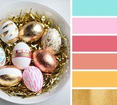 Easter egg inspired color palette
