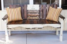 Ideas for a bench I am having made from barn wood.