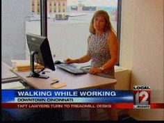 Lawyers using treadmill desks.