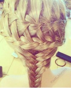 Double french with a fishtail.