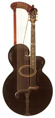 1906 Gibson Harp Guitar